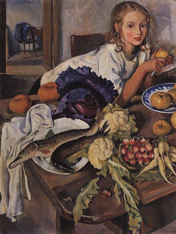 Картинки по запросу Серебрякова портрет дочери Кати